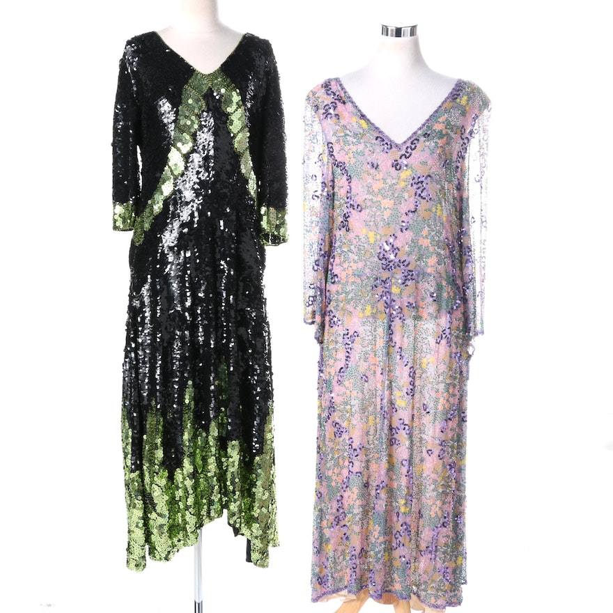Vintage Jenny Lewis Beaded and Sequined Gowns : EBTH