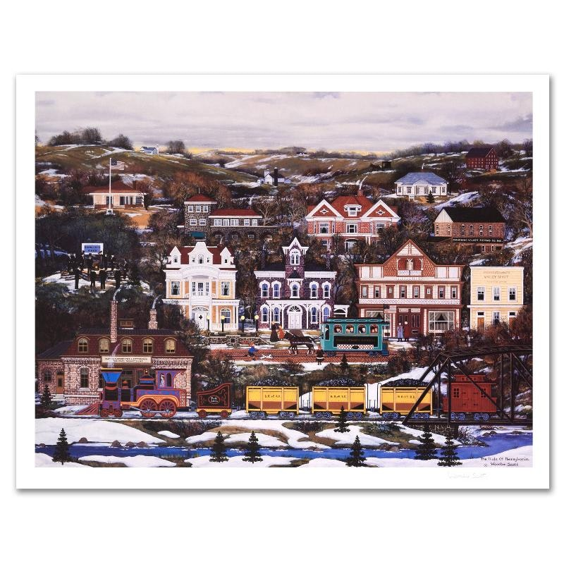 "Jane Wooster Scott ""Pride of Pennsylvania"" Limited Edition Lithograph"
