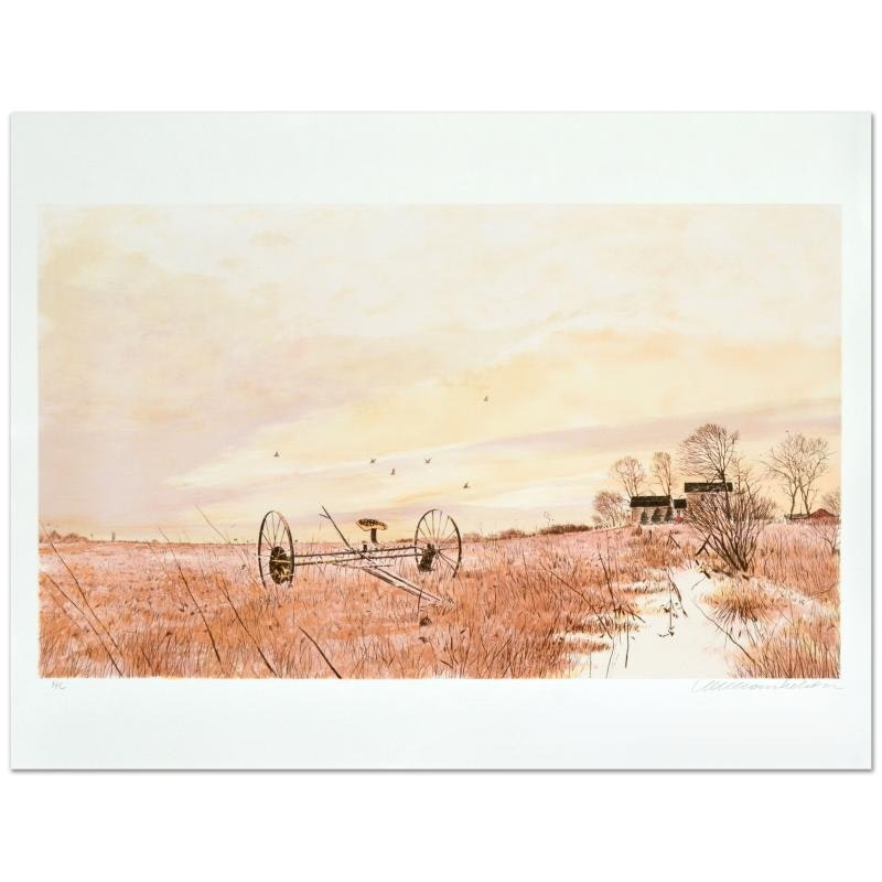 "William Nelson Limited Edition Lithograph ""The Hayfield"""