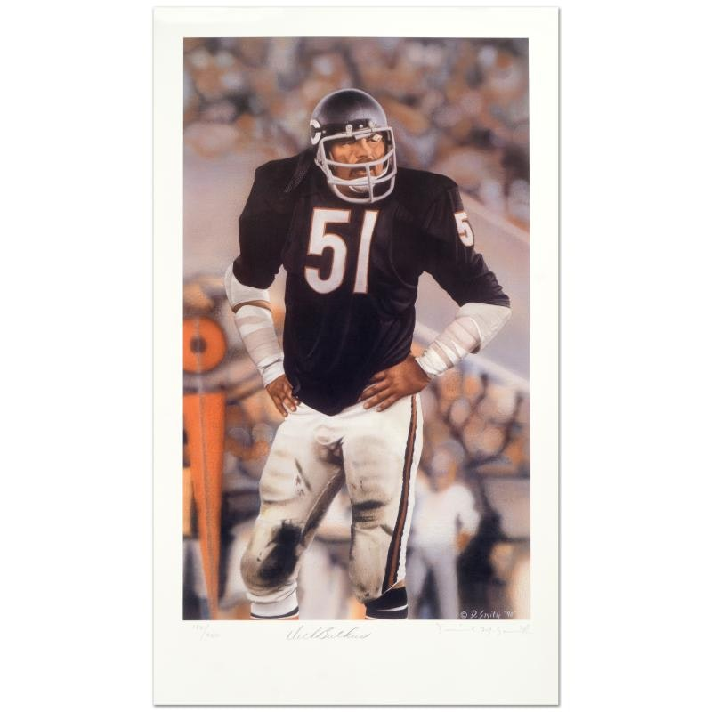 "Daniel M. Smith ""Dick Butkus"" Limited Edition Lithograph"