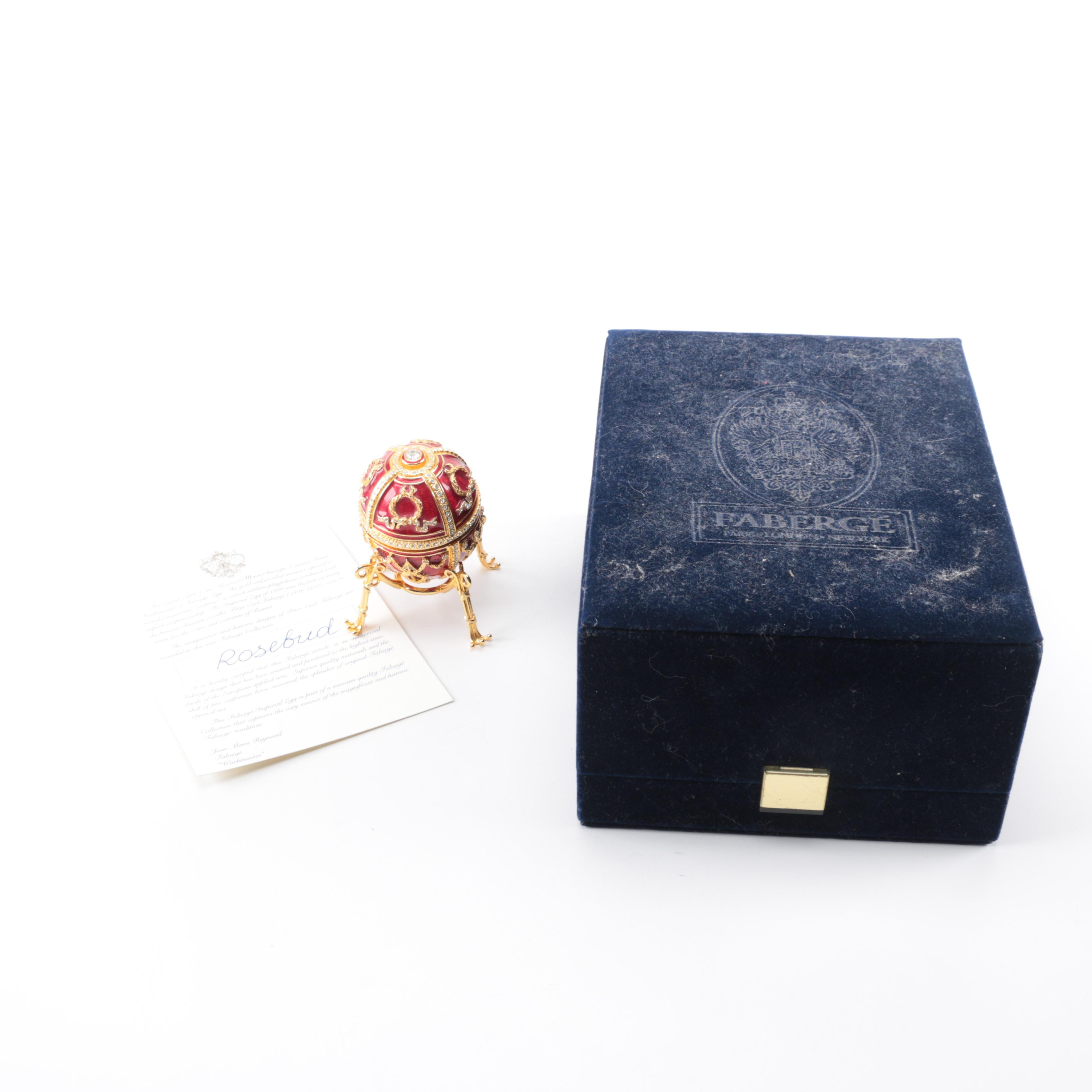 """Fabergé """"Rosebud"""" Enameled Egg"""