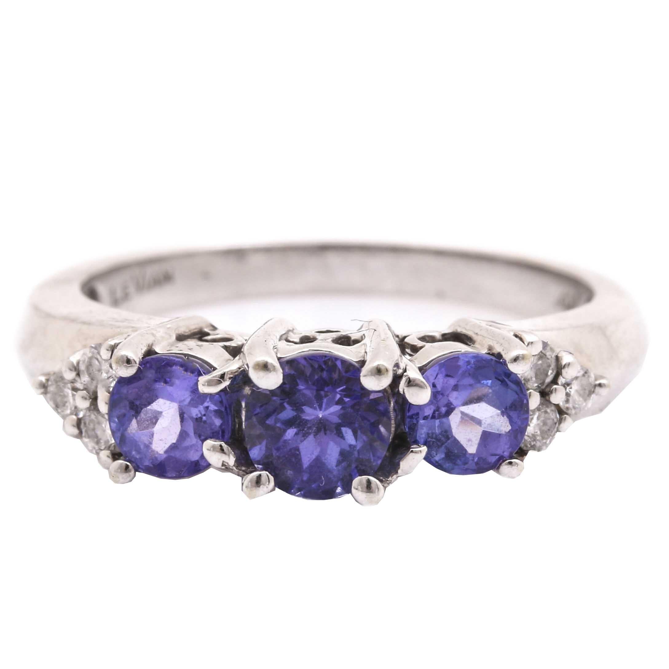 Le Vian 14K White Gold Tanzanite and Diamond Ring