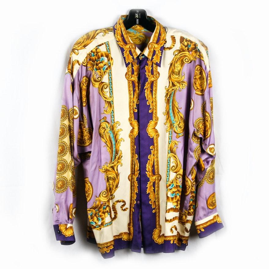 6c3f399ced3043 Gianni Versace Silk Blouse