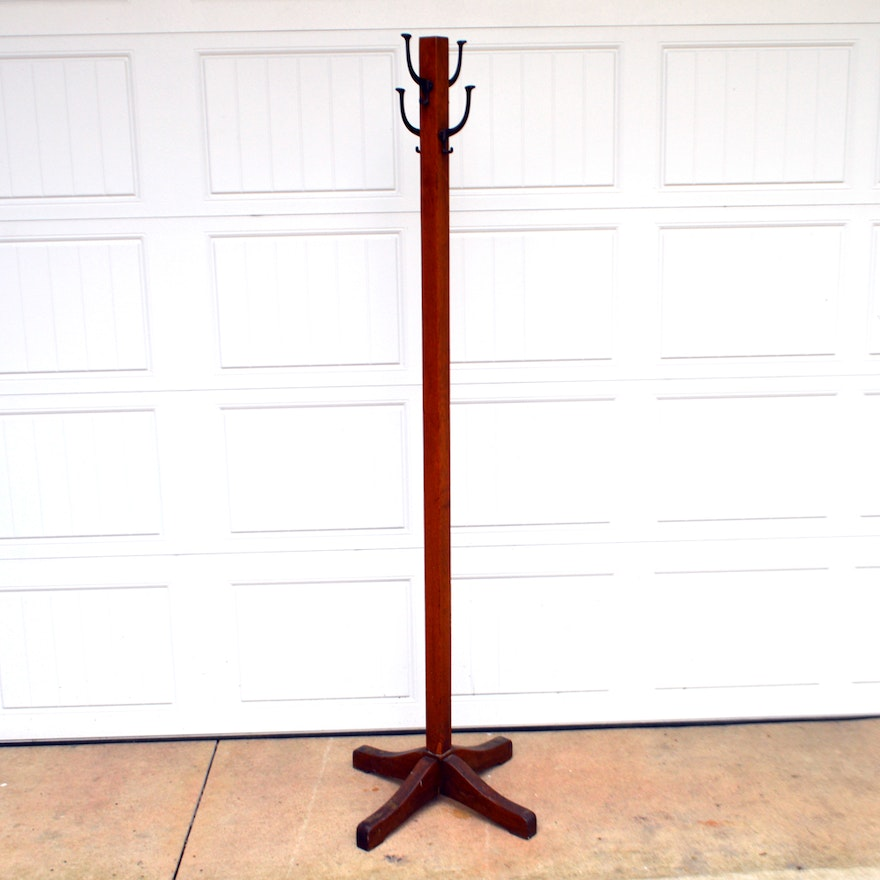 Vintage Mission Style Coat Rack EBTH Mesmerizing Vintage Style Coat Rack