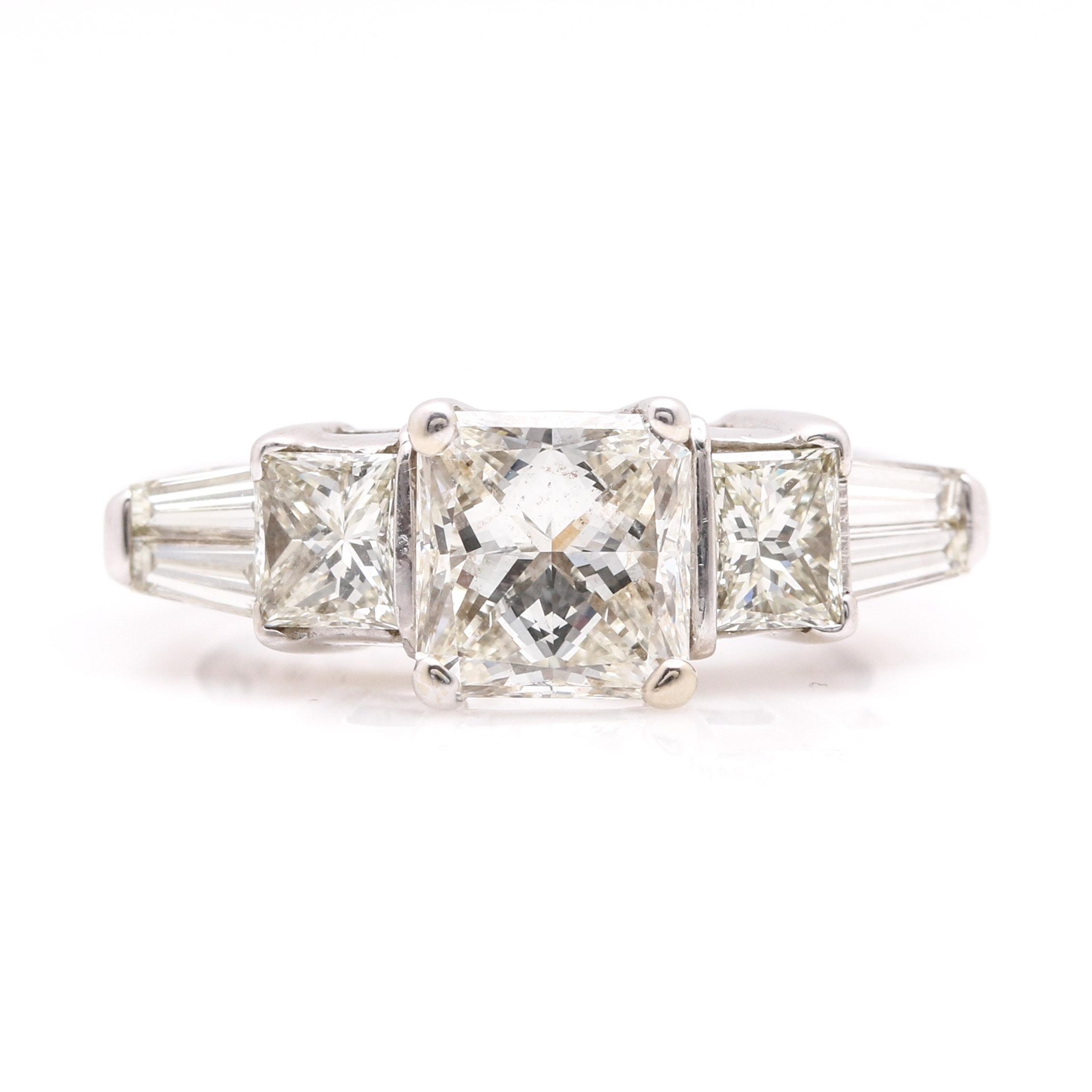14K White Gold 3.72 CTW Diamond Ring