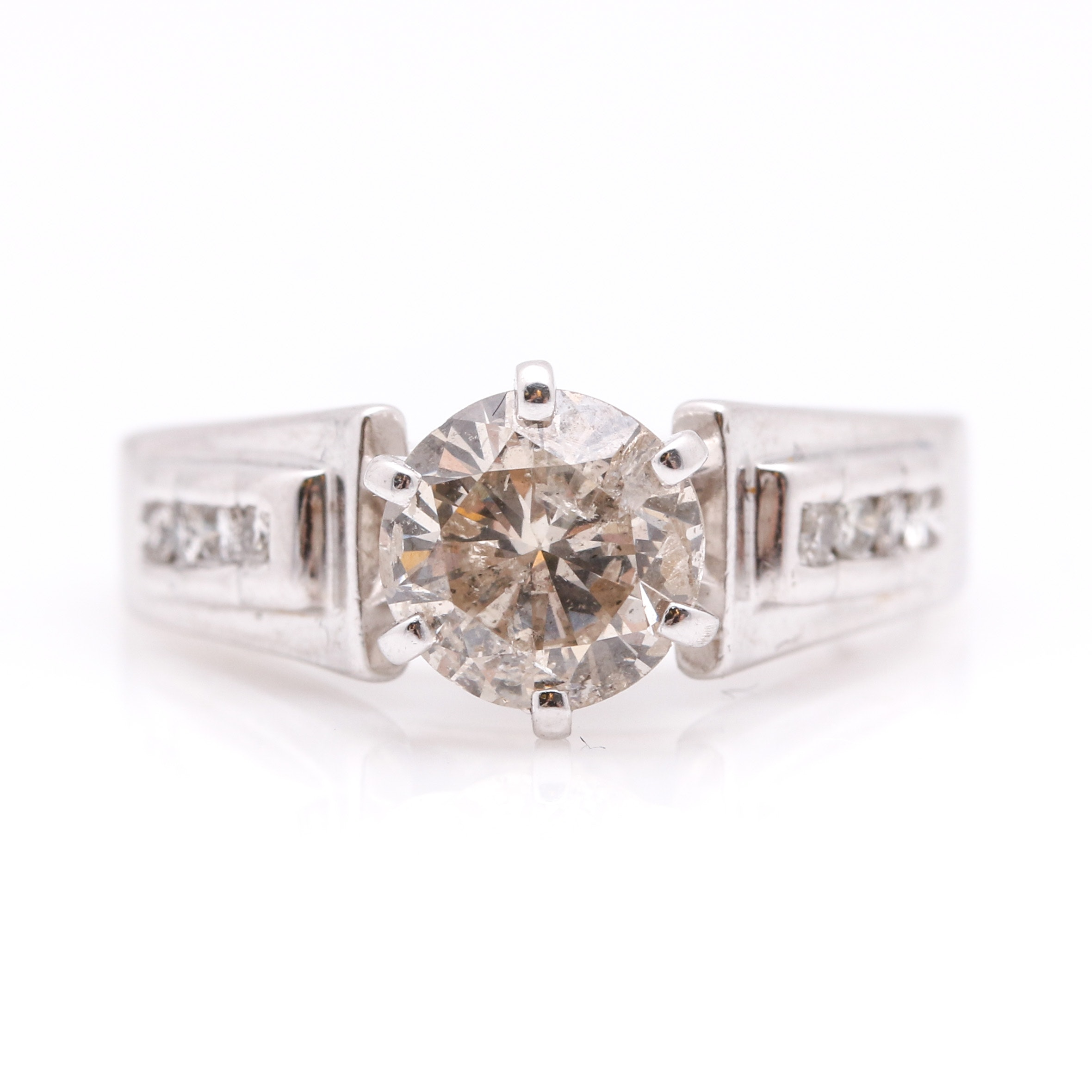 10K White Gold 1.42 CTW Diamond Ring