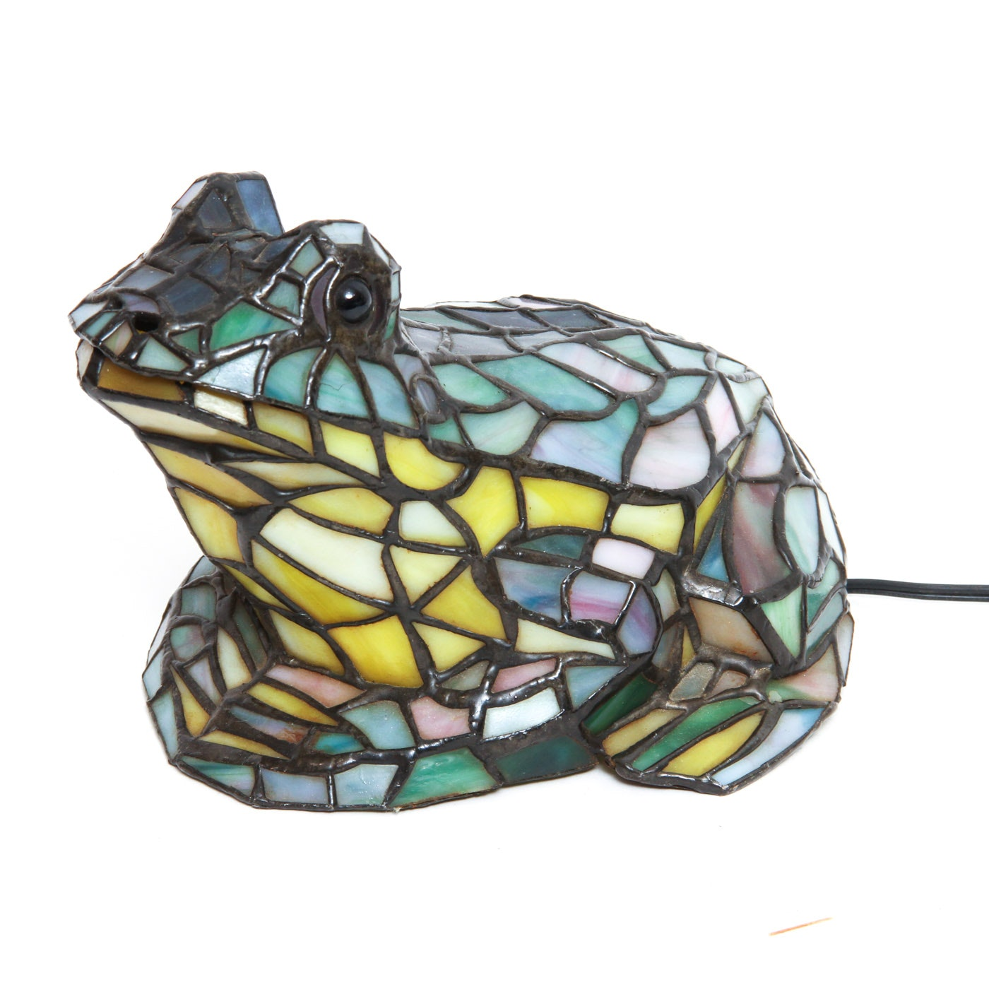 Stained Glass Frog Lamp.
