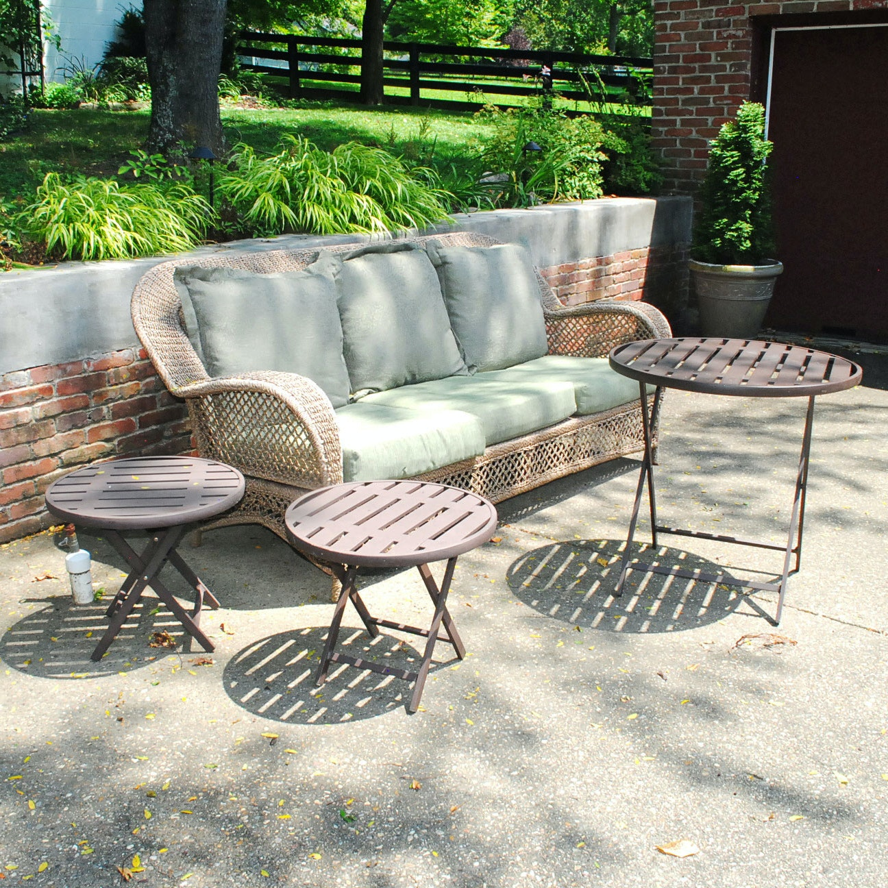 Accent Tables With Patio Sofa by Allen + Roth