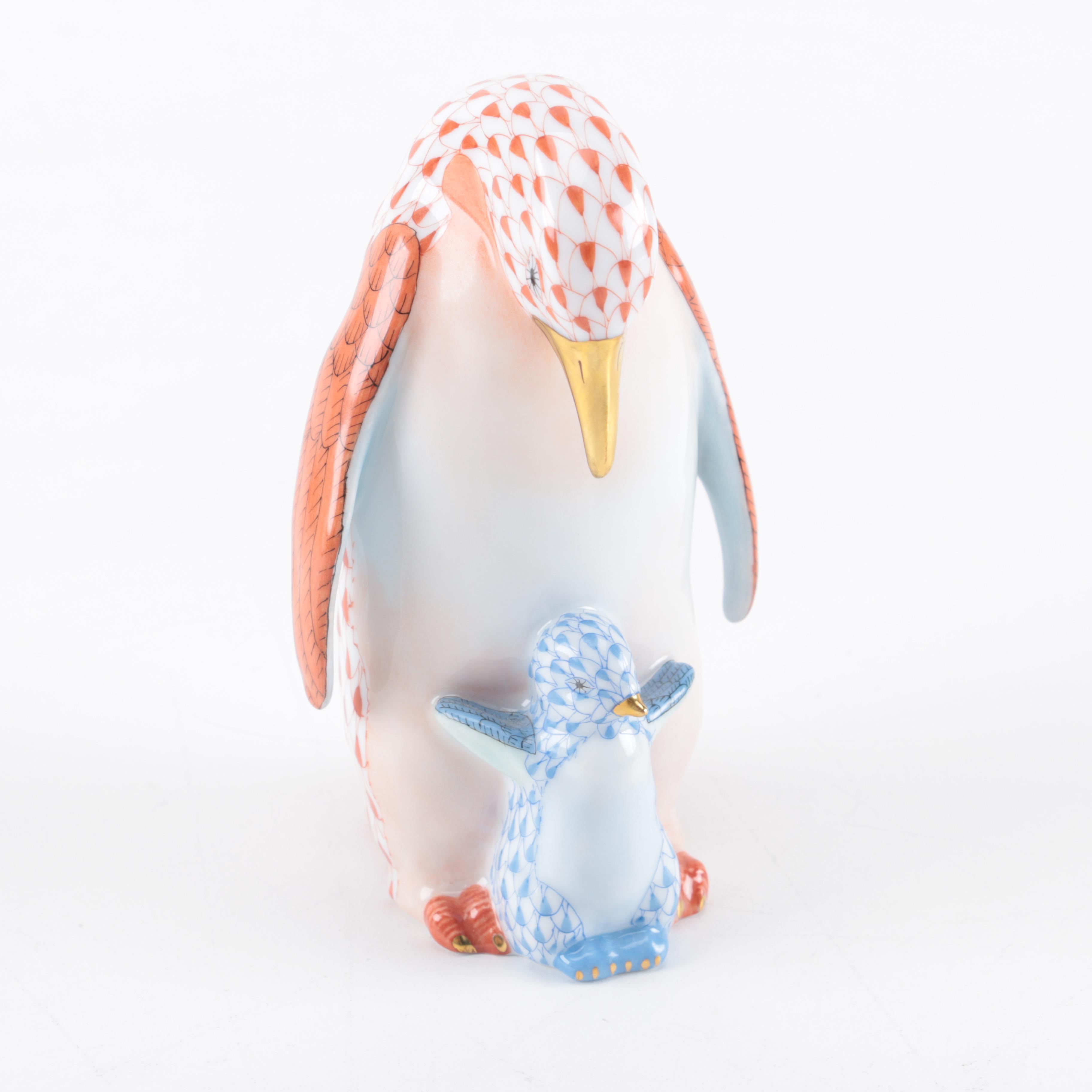 Herend Porcelain Penguin Figurines