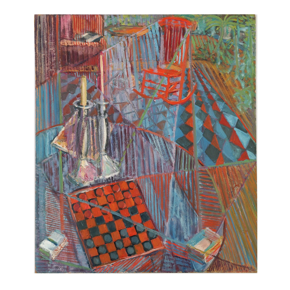 "Oil Painting on Board ""Auburn Street Studio"""