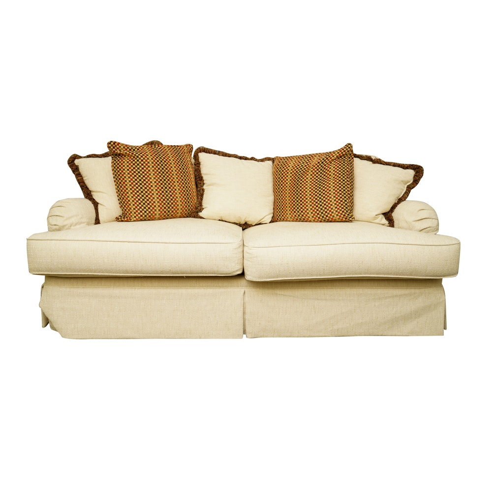 "Henredon ""Upholstery Collection"" Cream Love Seat"
