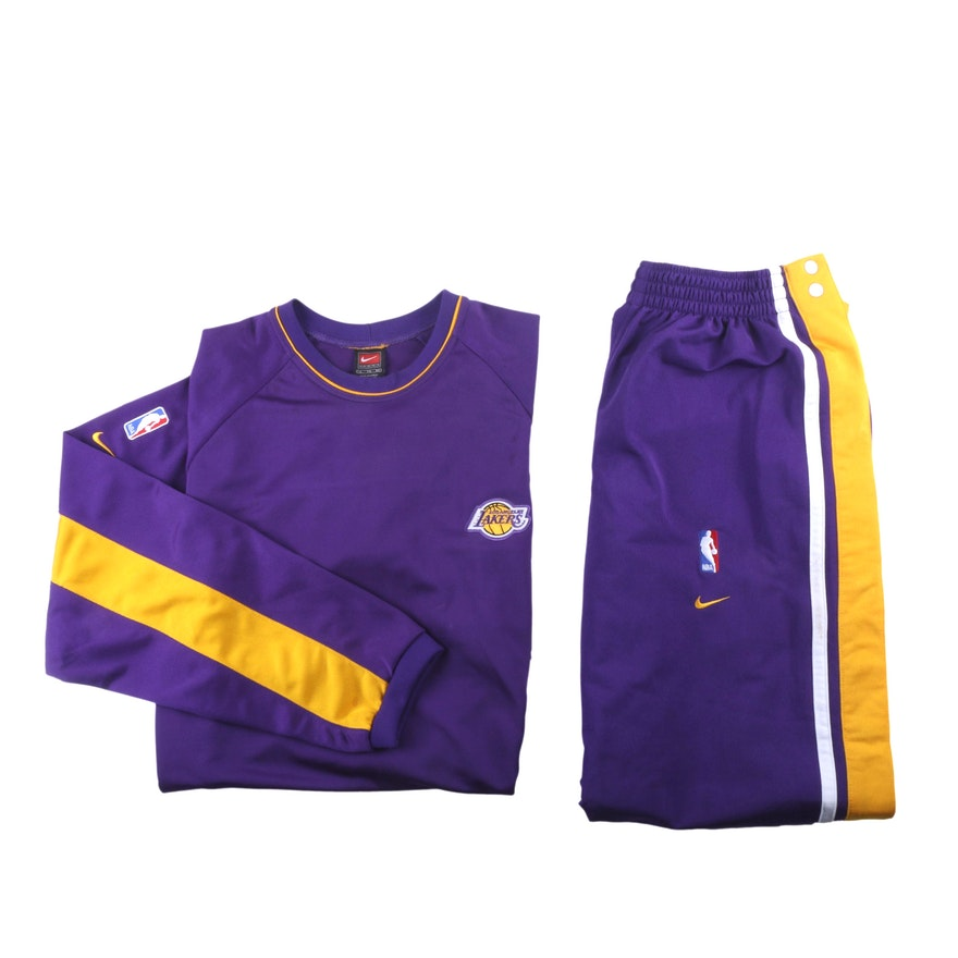 4334778e7da Los Angeles Lakers Men s Size XL Team Warm Up Suit by Nike   EBTH