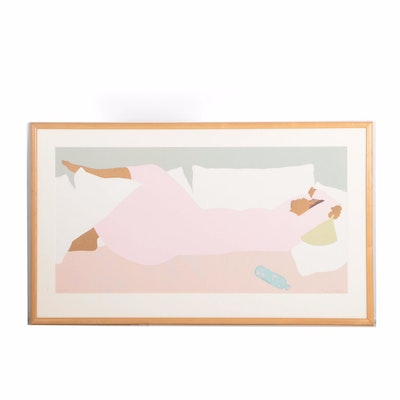 "Pegge Hopper Limited Edition Serigraph ""Island Noon"""