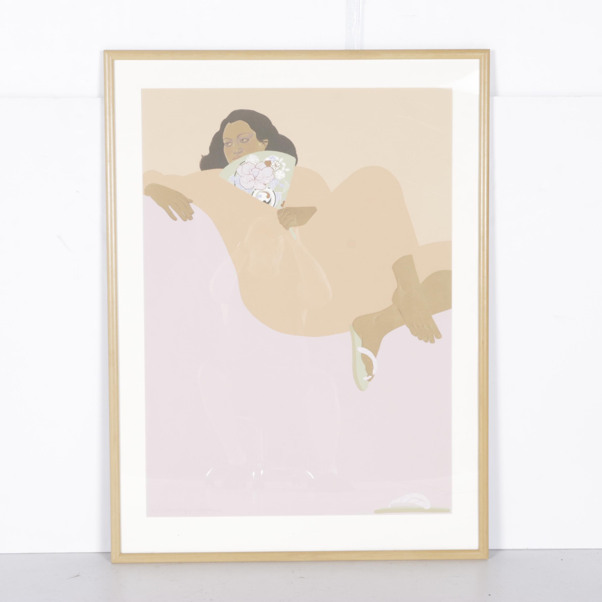 """Pegge Hopper Limited Edition Serigraph """"Apricot Summer"""""""