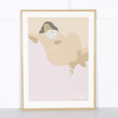 "Pegge Hopper Limited Edition Serigraph ""Apricot Summer"""