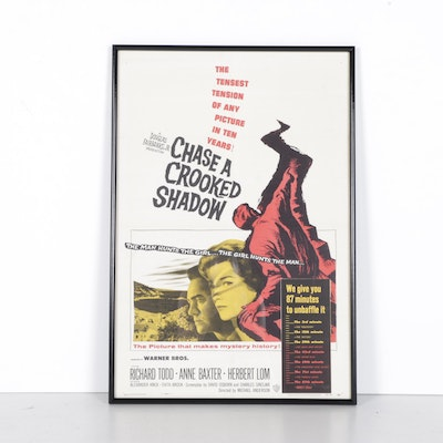 """Chase a Crooked Shadow"" Framed Movie Poster"