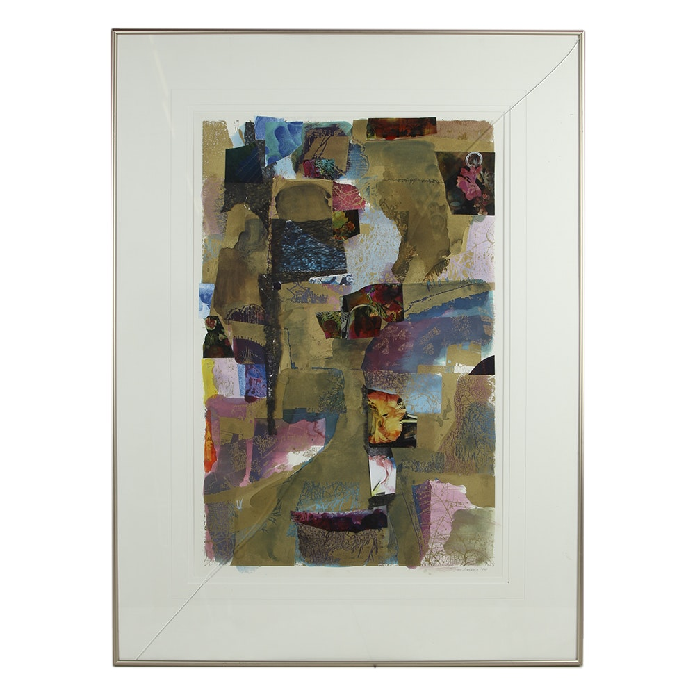 Don Werner Framed MIxed Media Collage