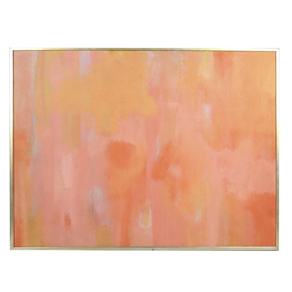 """Don Werner Framed Oil on Canvas """"Summer Haze"""""""