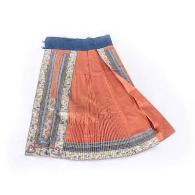 Vintage Handmade Embroidered Chinese Skirt