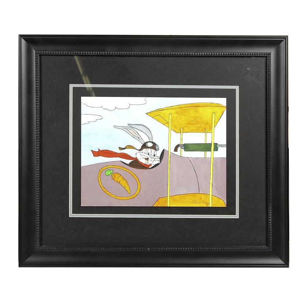 "Tom Ray Watercolor ""Bugs Bunny"""