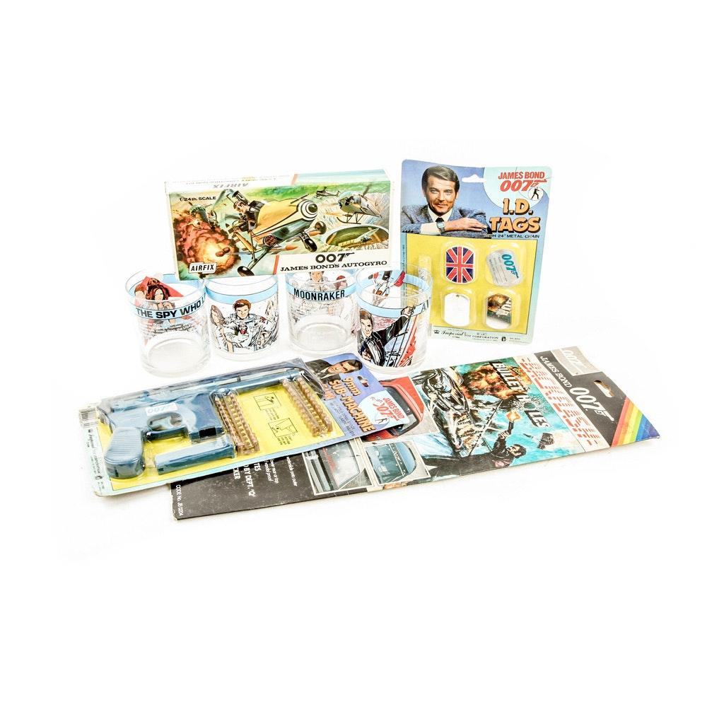 Vintage Roger Moore James Bond Memorabilia