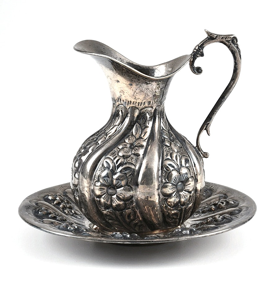 900 Silver Ewer and Tray