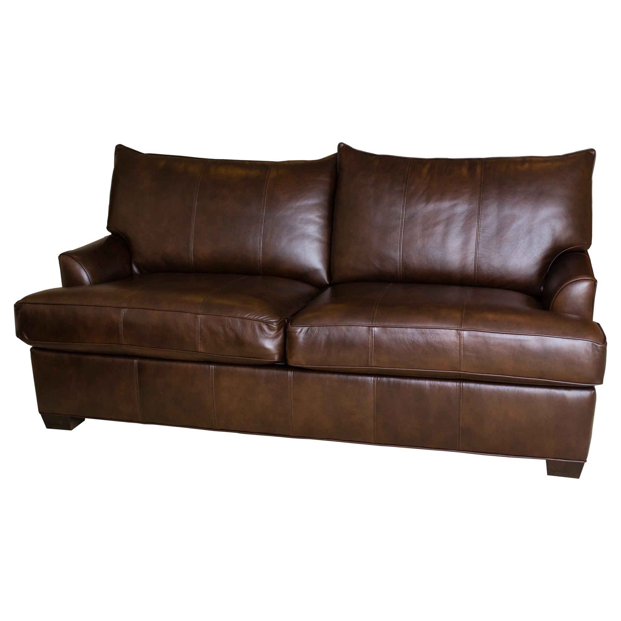 Ethan Allen Leather Sofa
