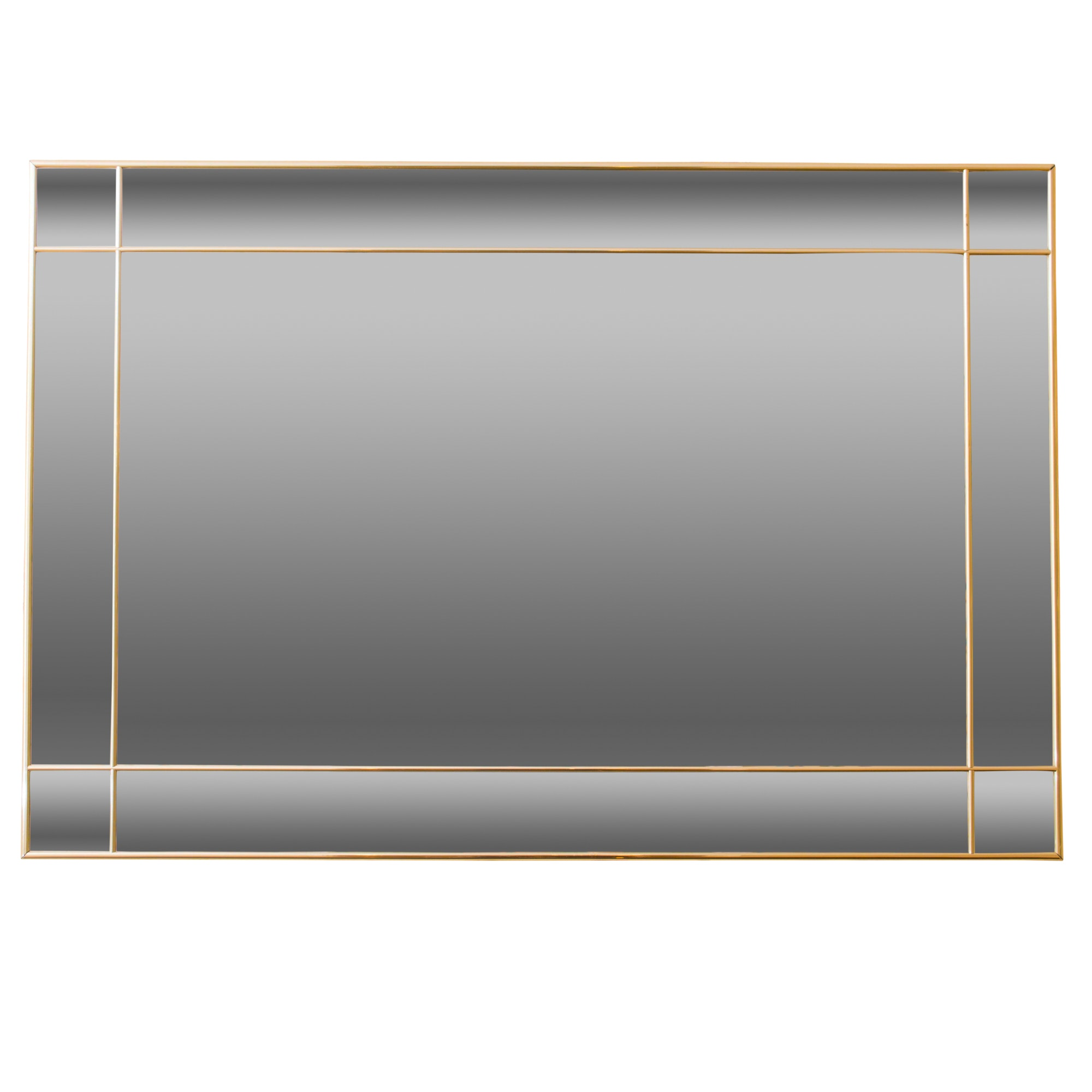 Contemporary Style Beveled Paneled Wall Mirror