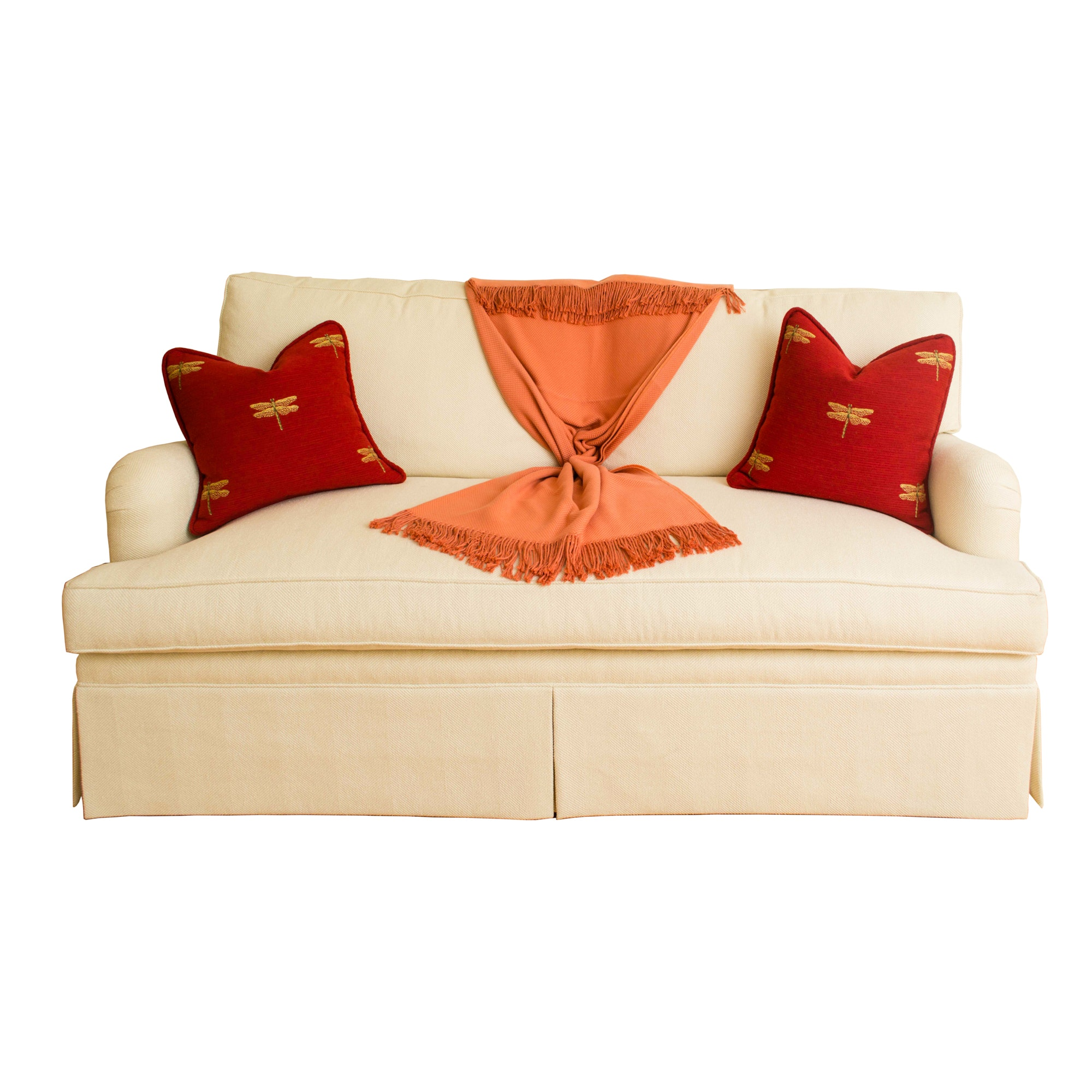 Upholstered Loveseat by Duralee