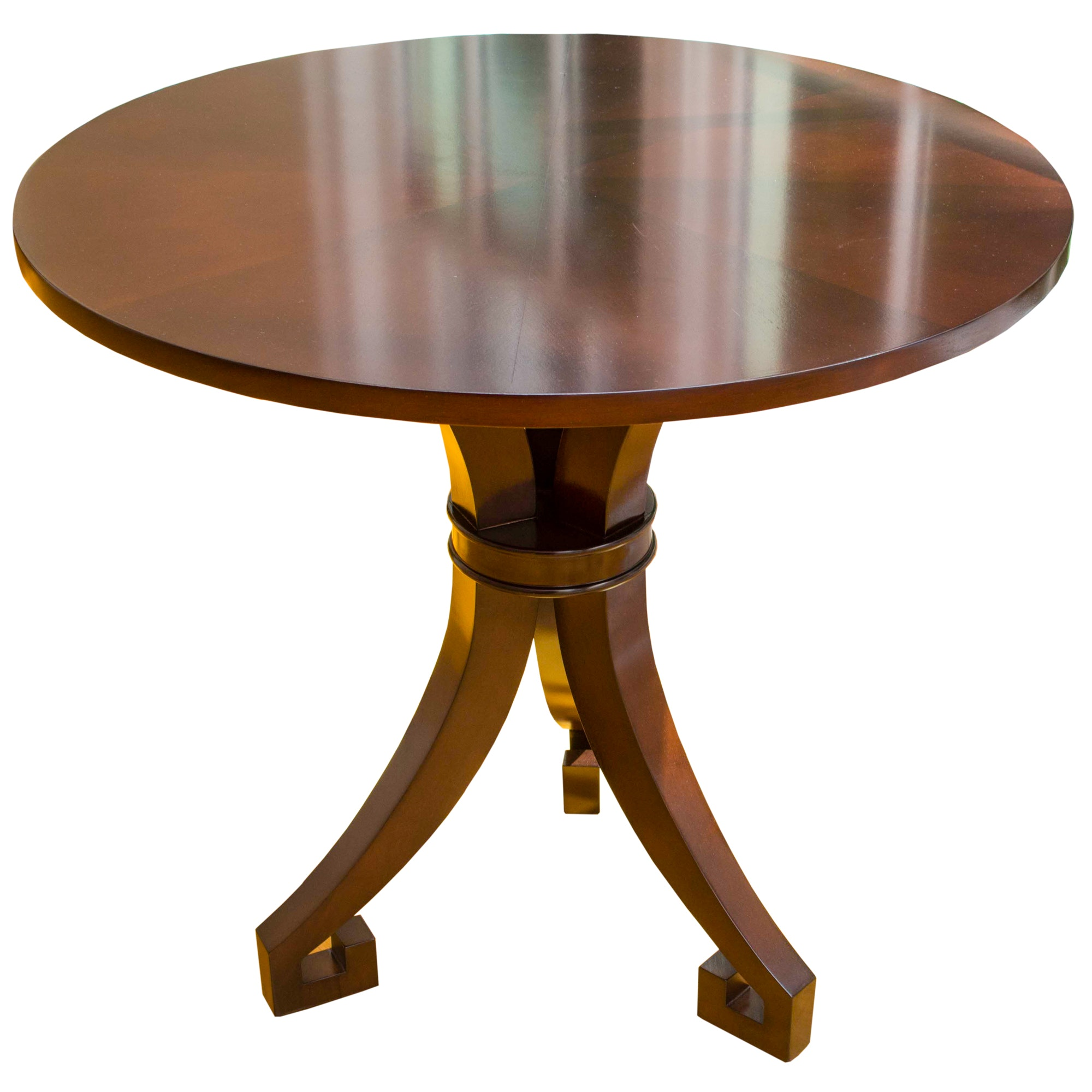 Transitional Mahogany Occasional Table