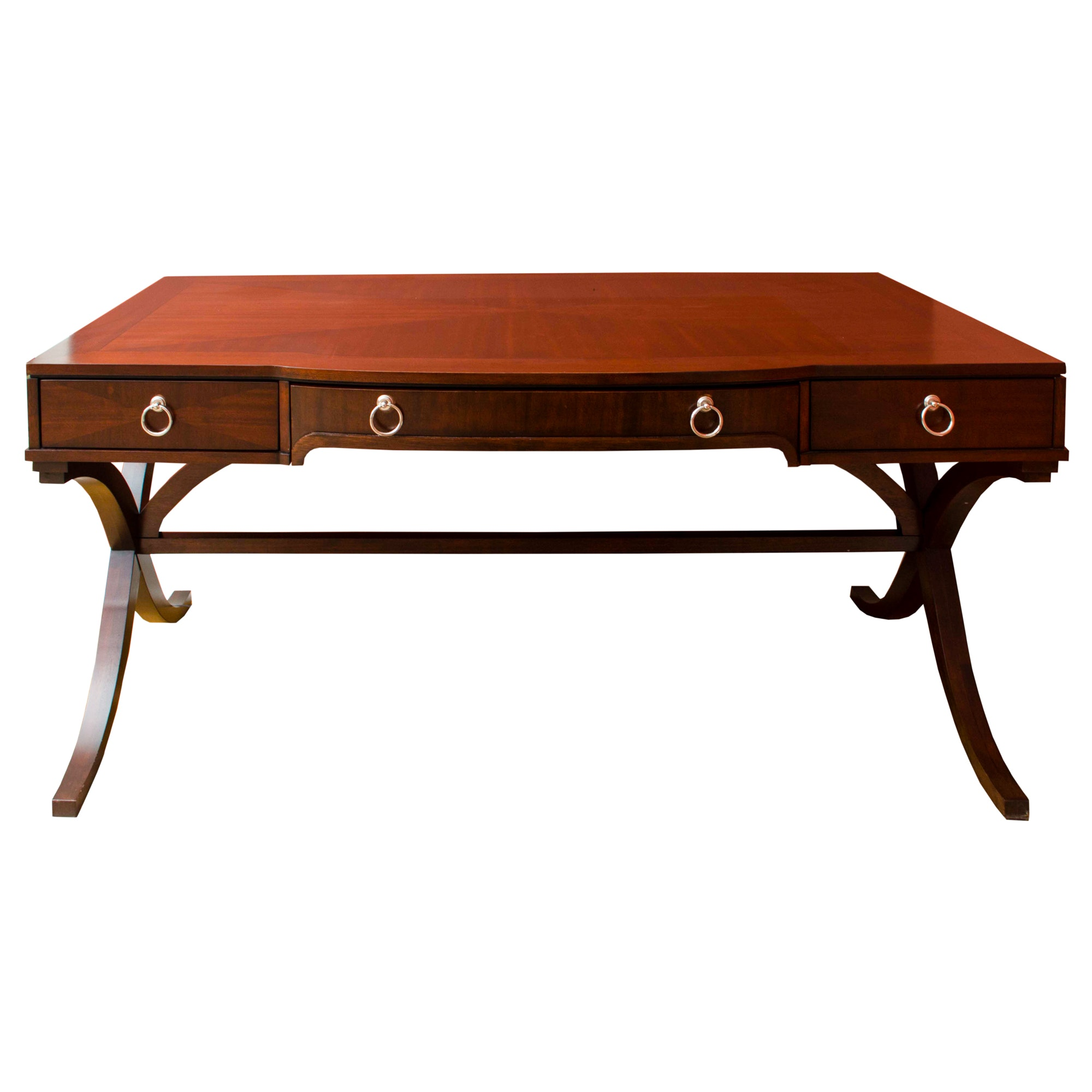 Campaign Style Mahogany Writing Desk by Hekman
