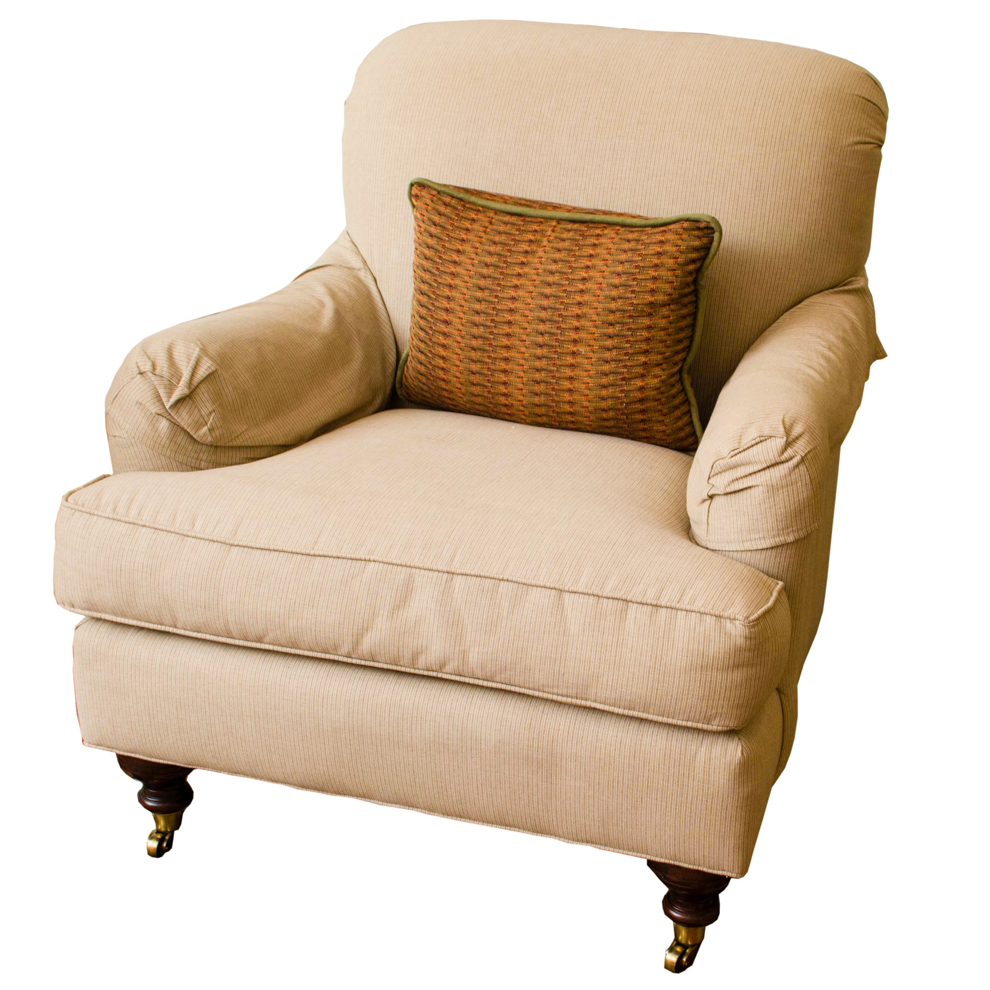 Drexel Heritage Turned Leg Club Chair
