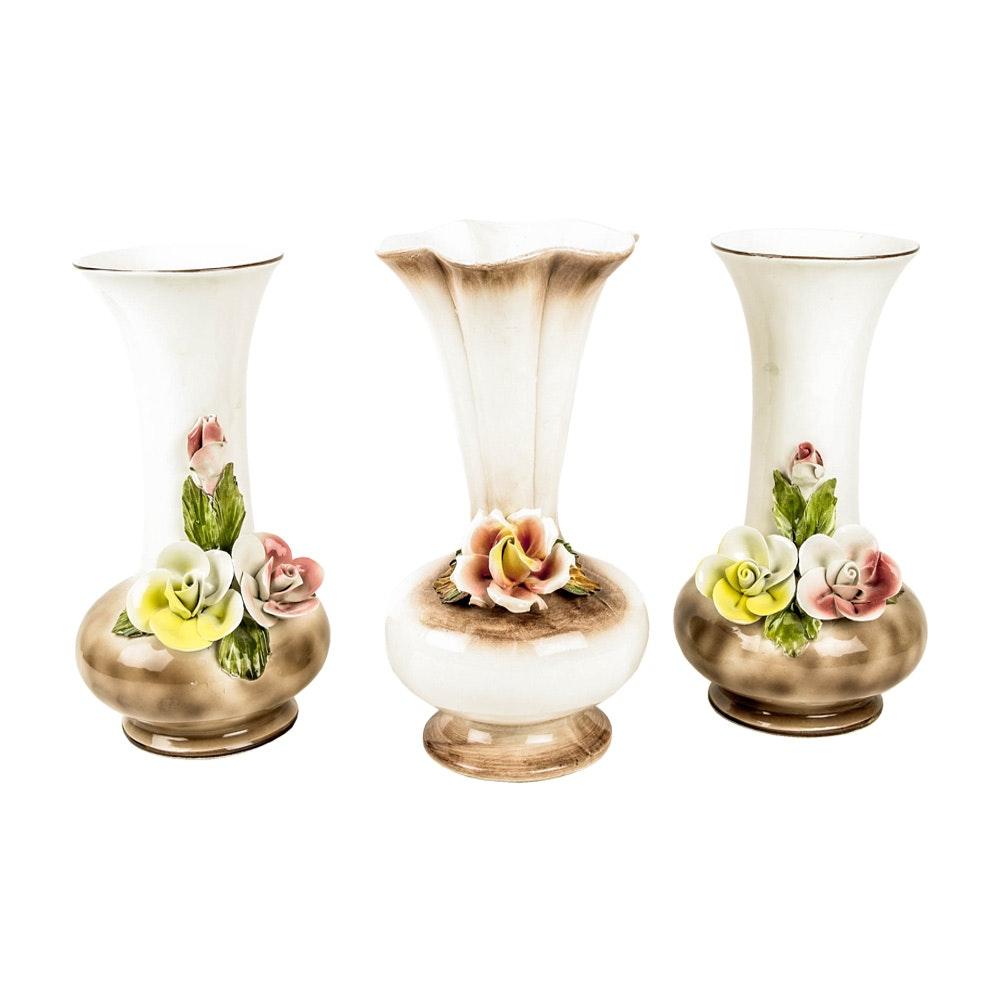 Collection of Italian Capodimonte Vases