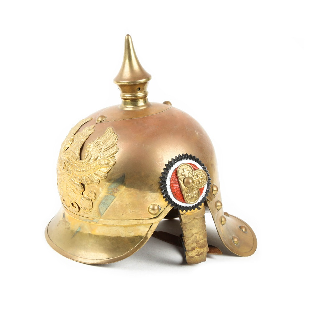 Brass Prussian Spiked Picklehauben Helmet