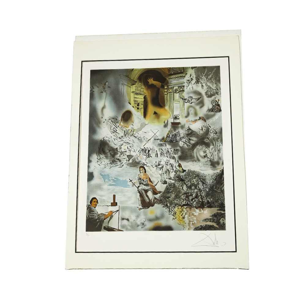 "After Salvador Dali Limited Edition Lithograph ""Ecumenical Council"""