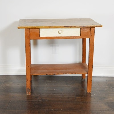 Late 19th Century French Painted Pine Table