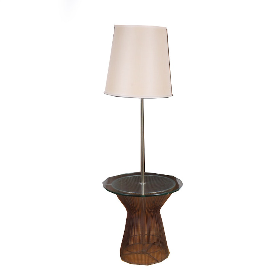 Vintage Floor Lamp With Tray Table