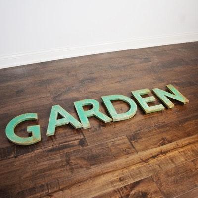 Metal Garden Letters Antique Metal Garden Letters  Ebth