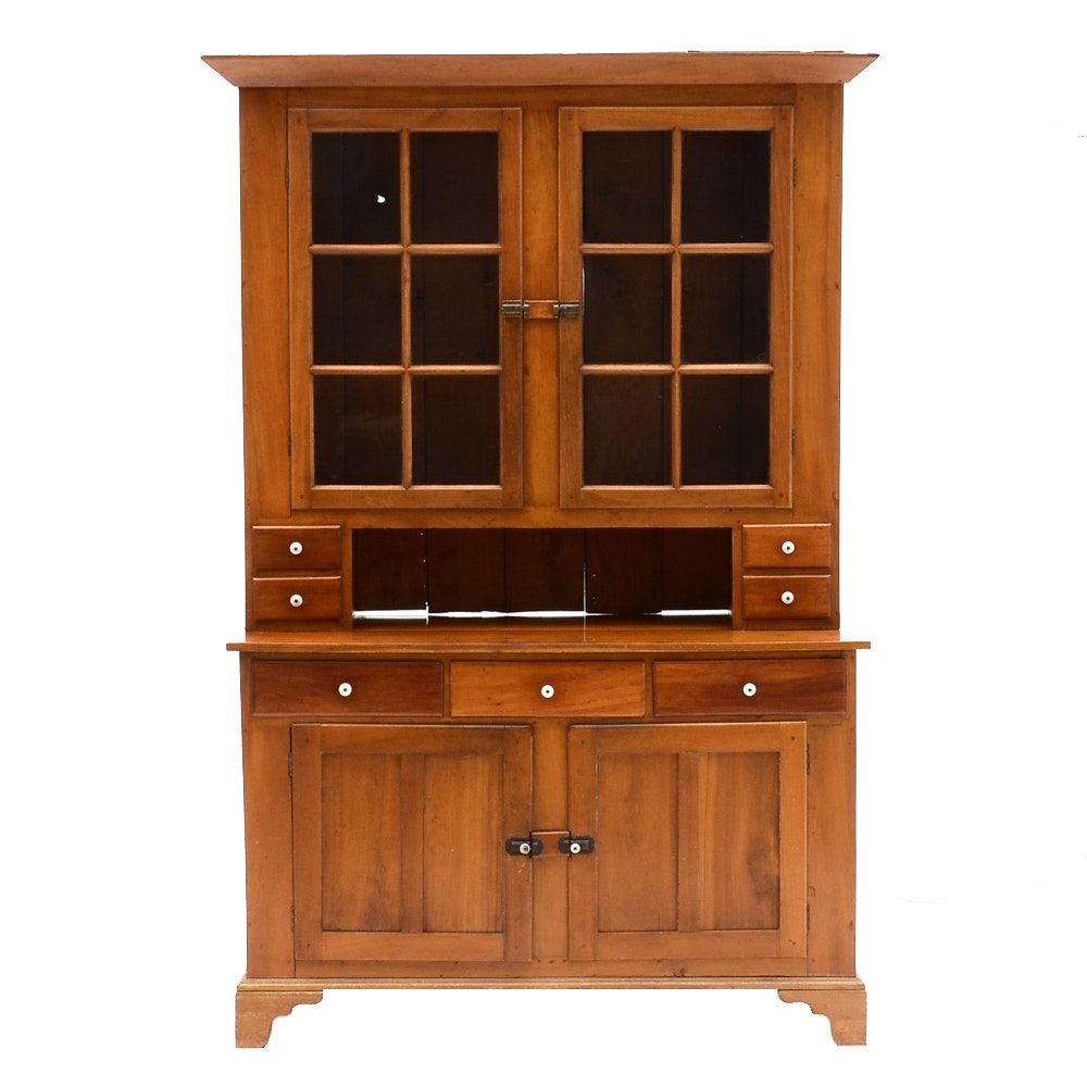 Antique Pennsylvania Style China Cabinet and Hutch