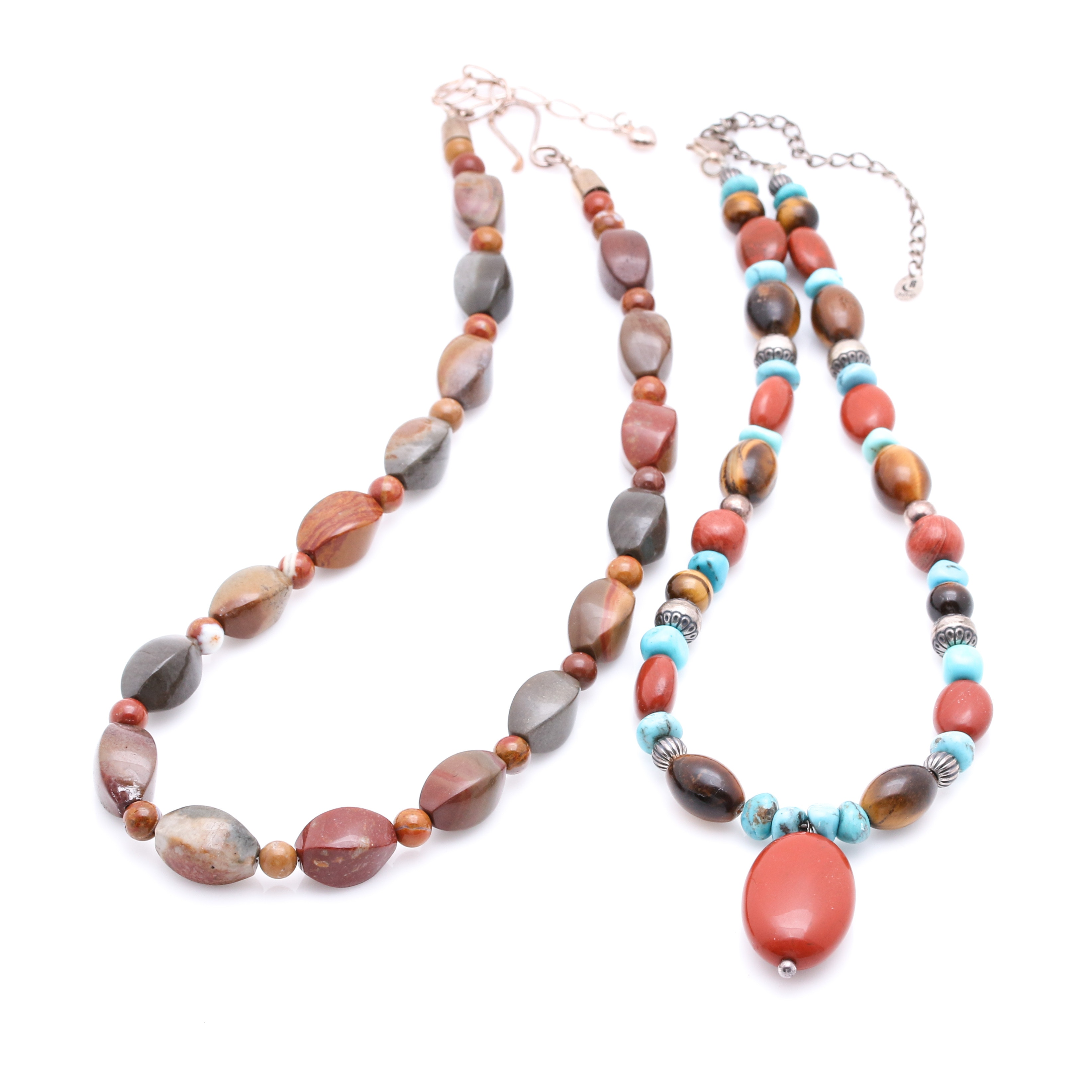 Jay King and Carolyn Pollack Stone Necklaces with Sterling Findings
