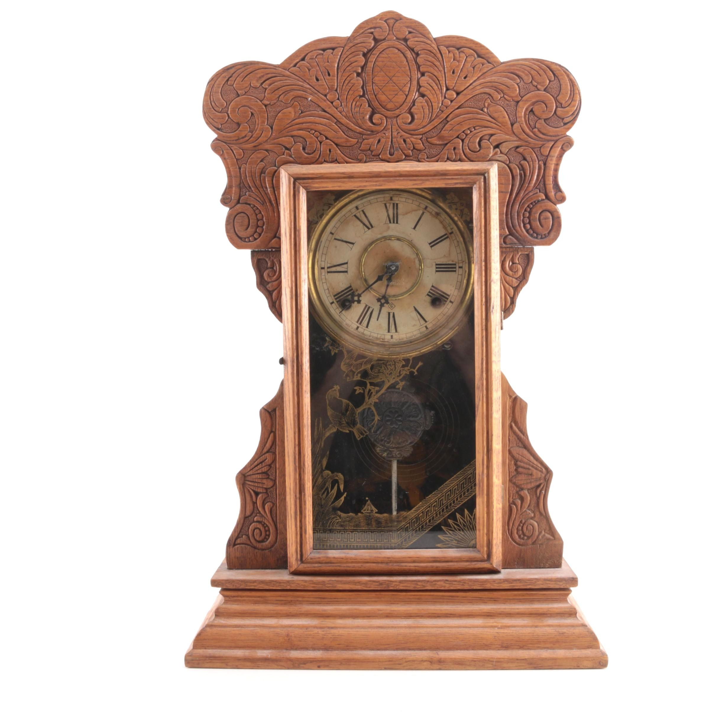 Wm. L. Gilbert Clock Co. Pendulum Mantel Clock