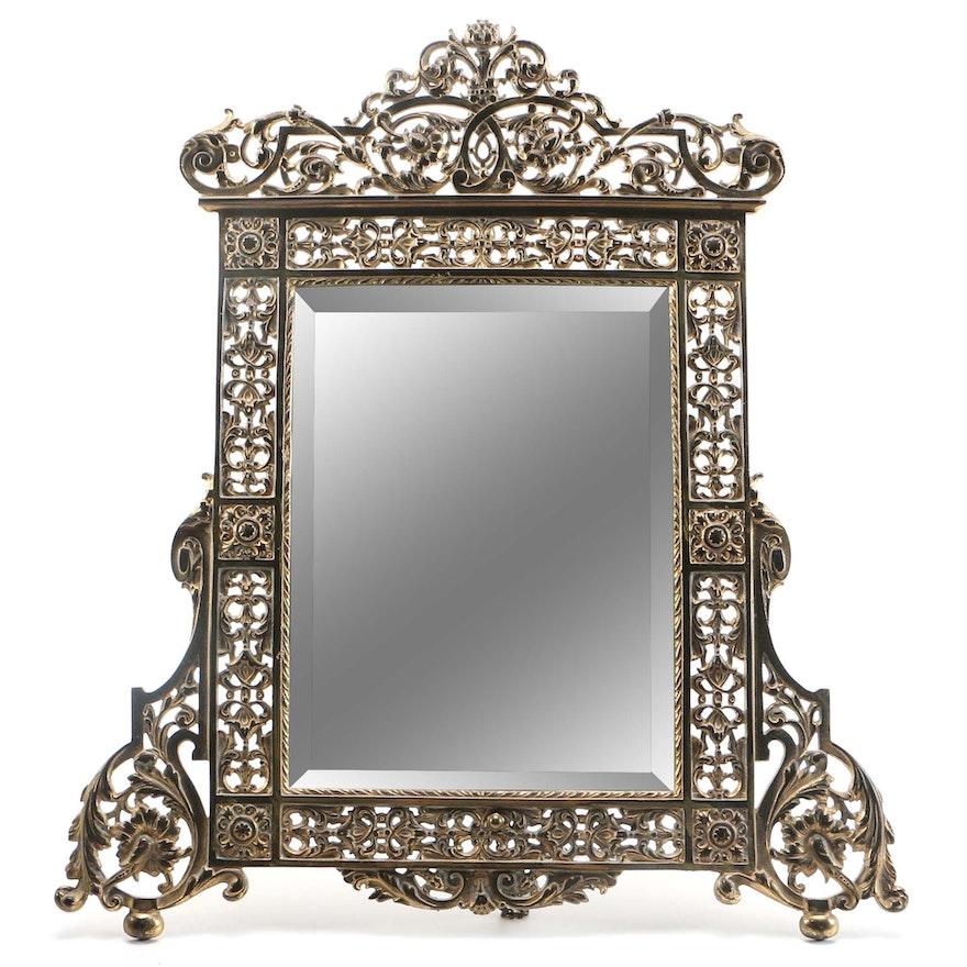 Gold Tone Filigree Frame Wall Mirror : EBTH