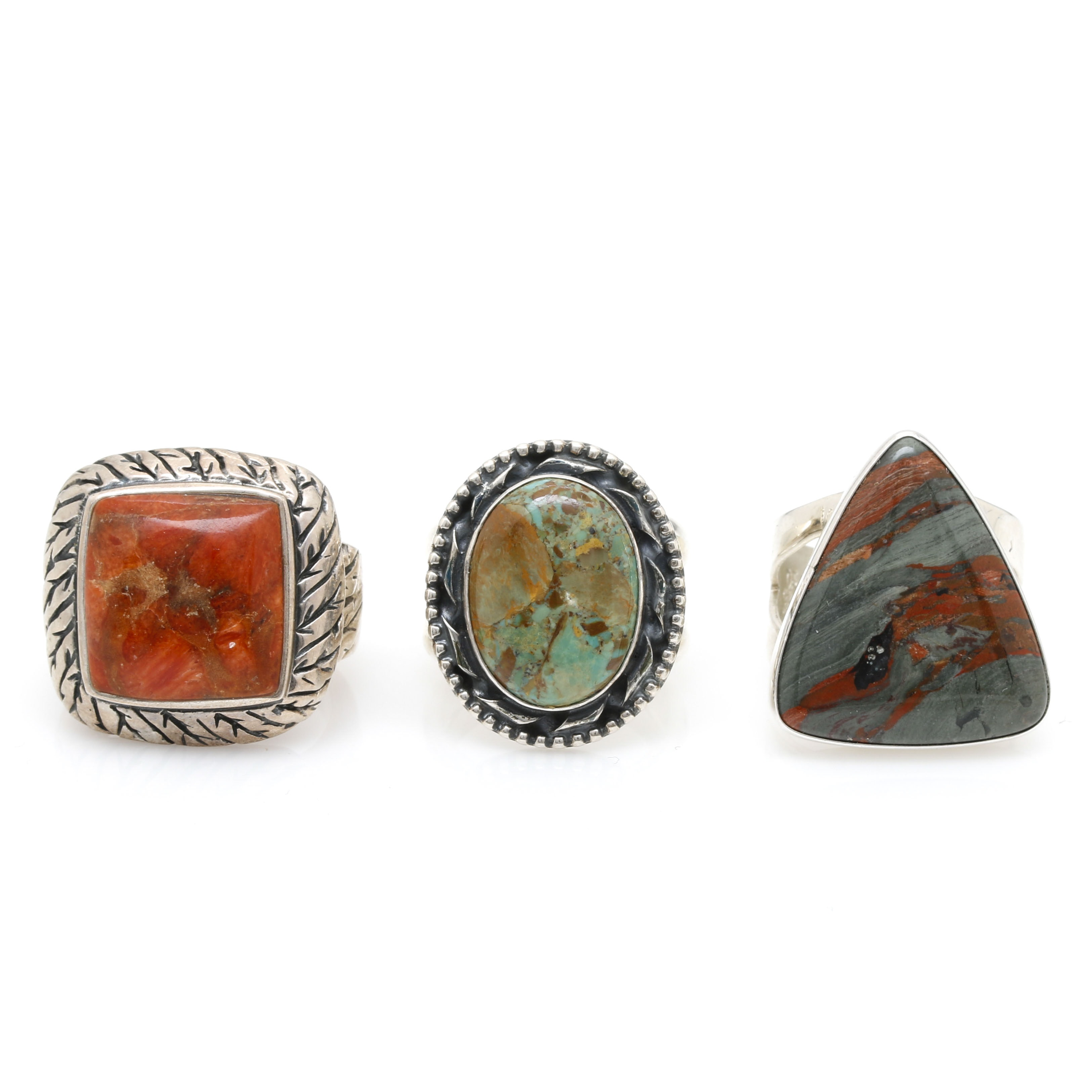 Sterling Silver and Gemstone Rings Including Jay King