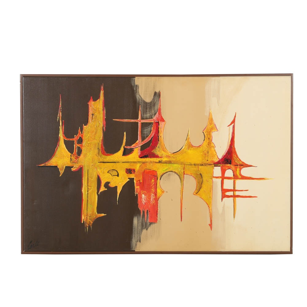 """Carlo of Hollywood Oil Painting on Canvas """"Sound Wave"""""""