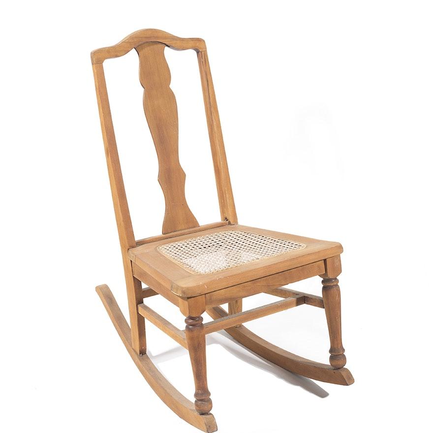 Pleasant Vintage Fiddleback Rocking Chair Inzonedesignstudio Interior Chair Design Inzonedesignstudiocom