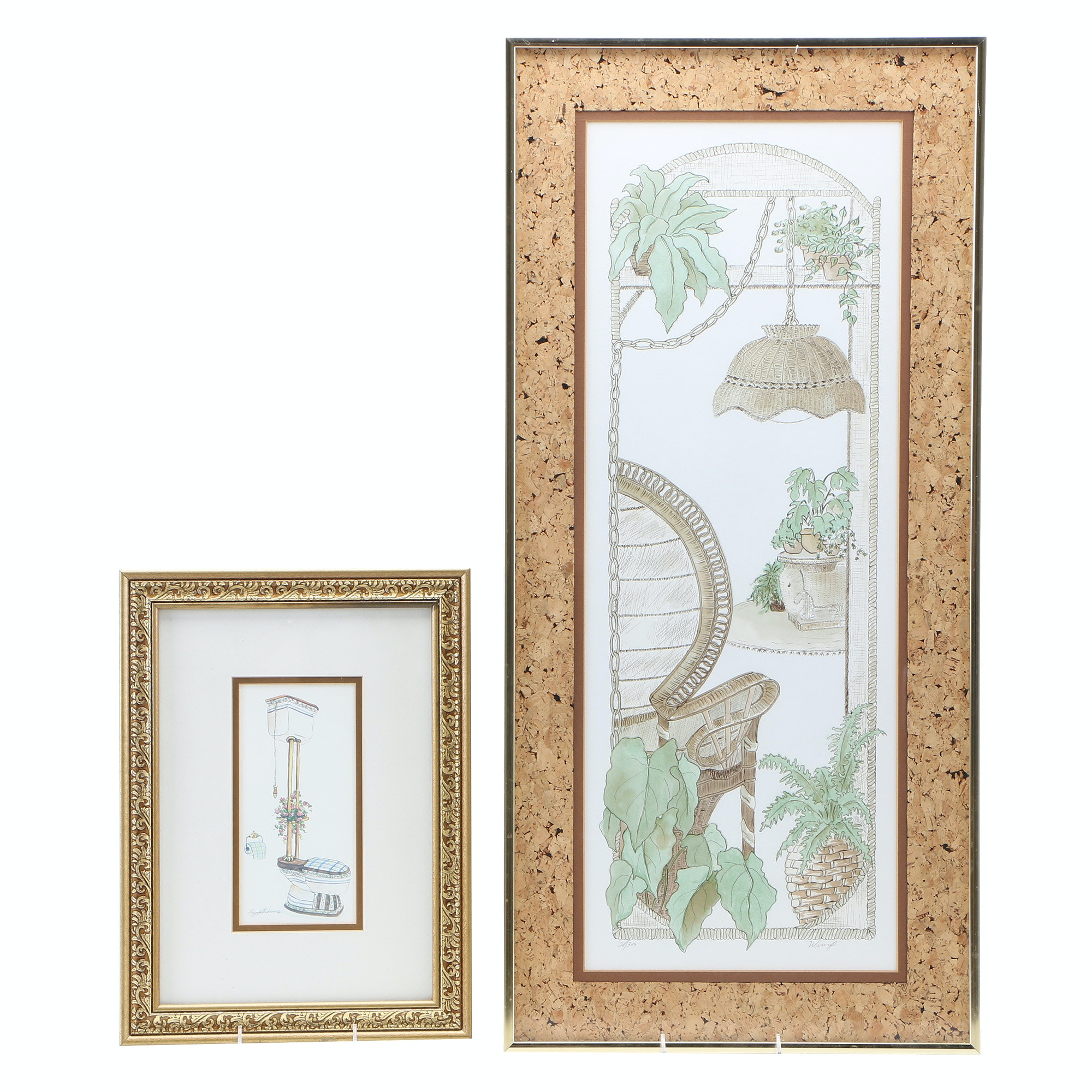 Two Offset Lithograph Prints of Home Interiors
