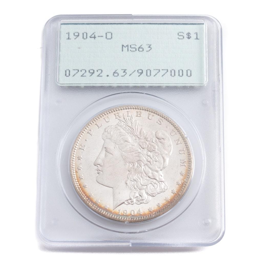 Graded MS-63 (By PCGS) 1904 O Silver Morgan Dollar