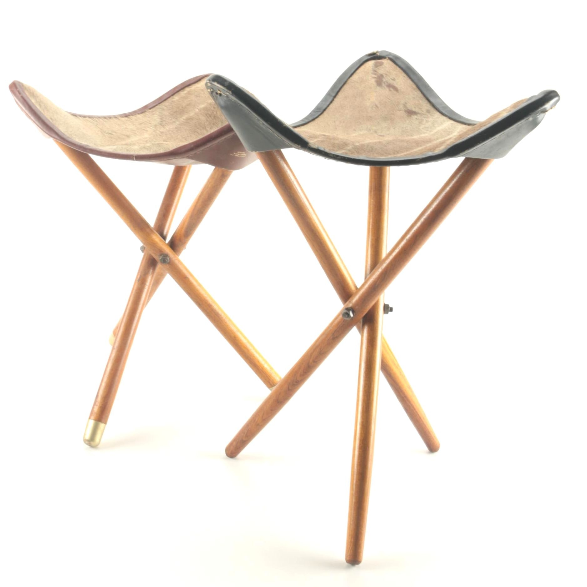 Vintage Greater Kudu Folding Camp Stools by Zimmermann Ltd.