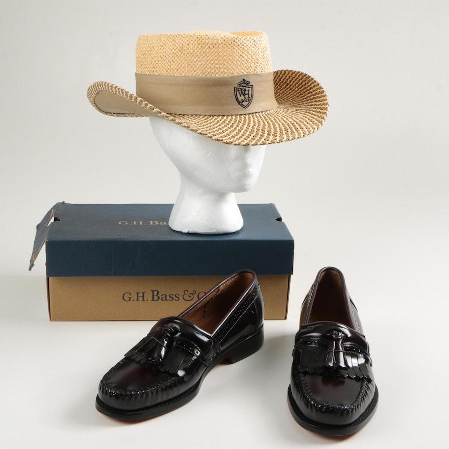 af362a34c7f86 Men s G.H. Bass   Co. Weejuns Loafers and Walter Hagen Plantation Hat   EBTH