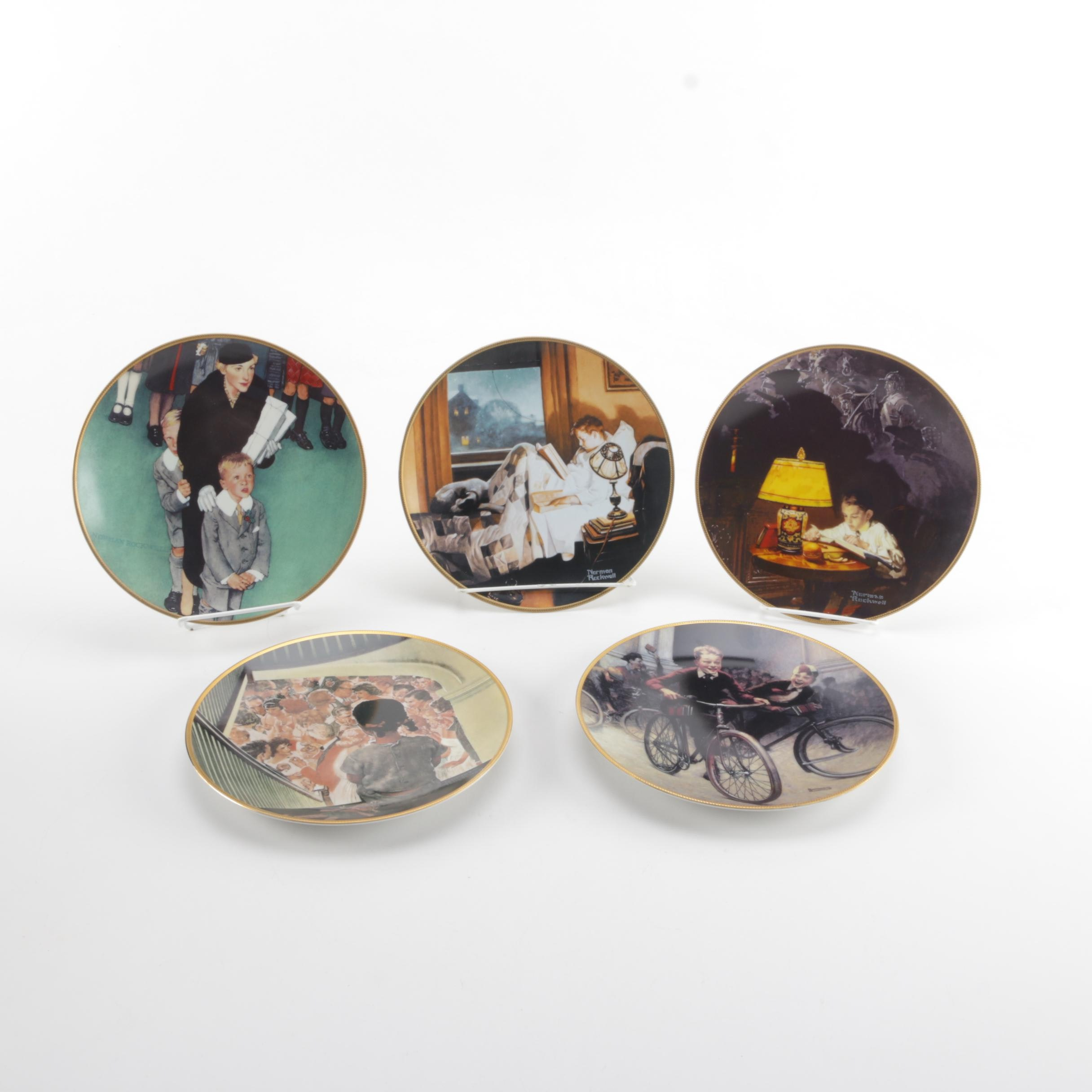 """Knowles Norman Rockwell """"Coming of Age"""" Collector Decor Plates"""